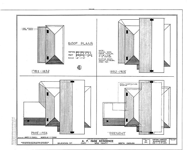 HABS NC,92-CARY,1- (sheet 3 of 23) - A. T. Page House, Wilkenson Street, Cary, Wake County, NC