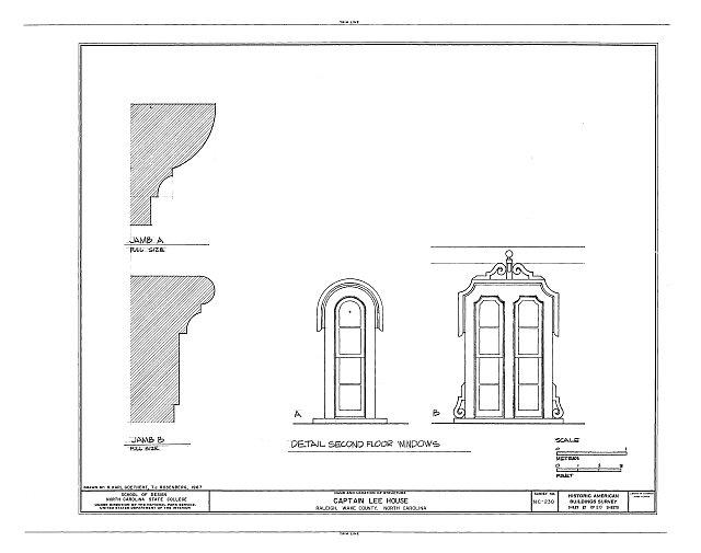 HABS NC,92-RAL,9- (sheet 17 of 20) - Captain Lee House, 503 East Jones Street, Raleigh, Wake County, NC