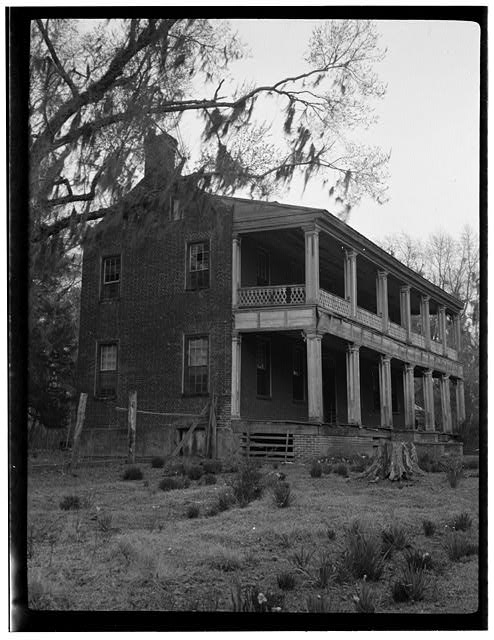 3.  Historic American Buildings Survey, VIEW FROM SOUTHWEST. - Oakland, Cape Fear River & Route 21, Elizabethtown, Bladen County, NC