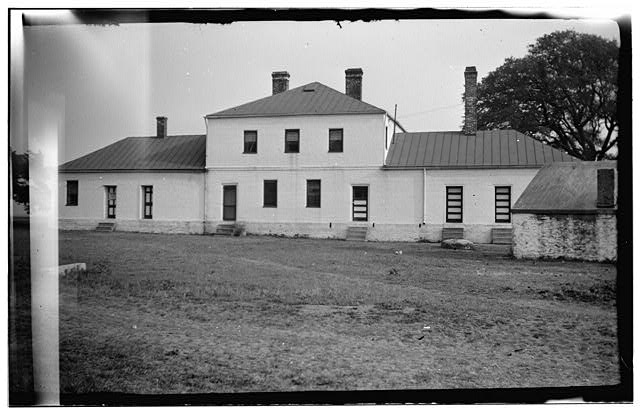 1.  Historic American Buildings Survey, EXTERIOR VIEW (rear facade?). - Fort Johnson, Southport, Brunswick County, NC