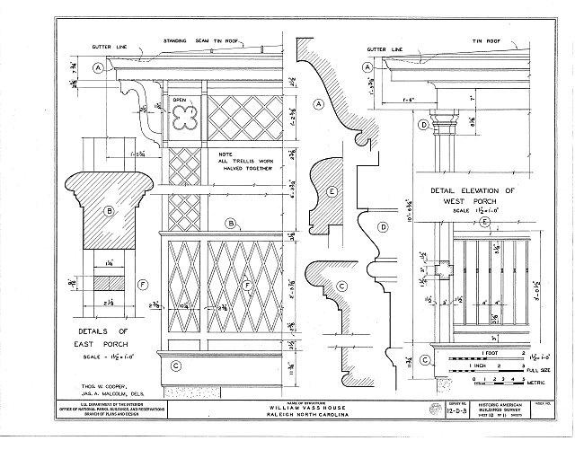 HABS NC,92-RAL,3- (sheet 10 of 11) - William Vass House, 501 North Halifax Street, Raleigh, Wake County, NC