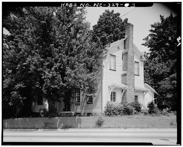 3.  FRONT AND SIDE VIEW, SOUTH AND EAST ELEVATIONS - White-Holman House, 209 East Morgan Street, Raleigh, Wake County, NC