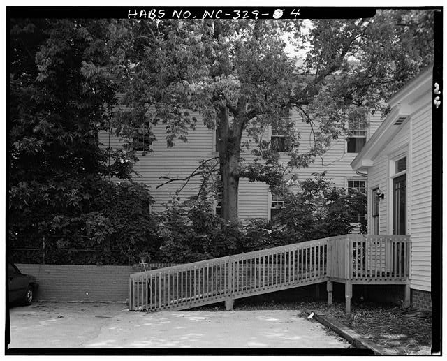 4.  SIDE VIEW, WEST ELEVATION (in background) - White-Holman House, 209 East Morgan Street, Raleigh, Wake County, NC