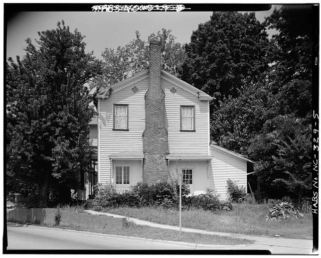 5.  SIDE VIEW, EAST ELEVATION, WITH SMALL REAR ADDITION - White-Holman House, 209 East Morgan Street, Raleigh, Wake County, NC