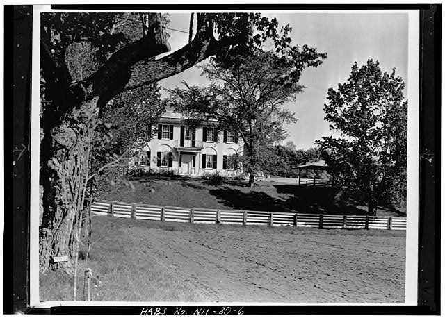 6.  DISTANT VIEW OF FRONT (NORTHWEST FACADE) - Wheeler House, Orford Street, Orford, Grafton County, NH