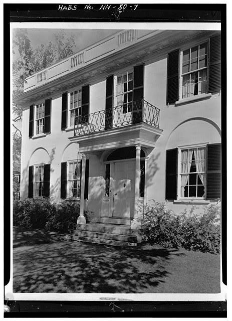 7.  ENTRANCE PORTICO - Wheeler House, Orford Street, Orford, Grafton County, NH
