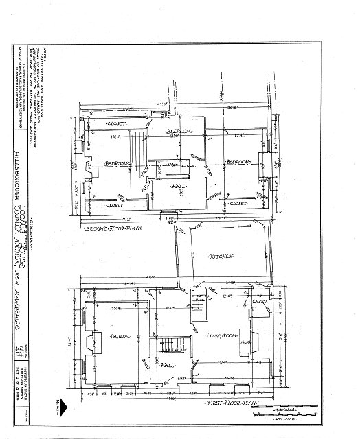 HABS NH,6-ANT,1- (sheet 1 of 3) - Loomis House, Antrim, Hillsborough County, NH
