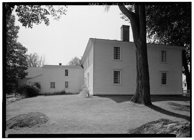 3.  REAR ELEVATION, NORTH CORNER - Pierce Homestead, State Route 31, Hillsboro, Hillsborough County, NH
