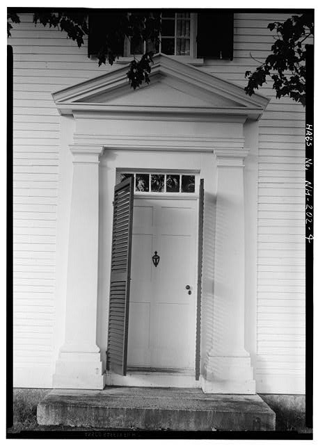 4.  MAIN ENTRANCE DOOR - Pierce Homestead, State Route 31, Hillsboro, Hillsborough County, NH