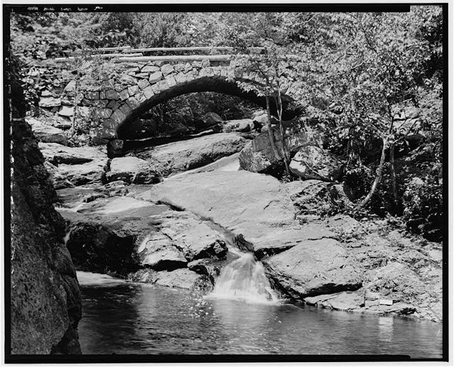 2.  Historical American Buildings Survey L. C. Durette, Photographer May 15, 1936. GLEASON FALLS BRIDGE VIEW FROM DOWN STREAM - Gleason Falls Bridge, Spanning Beard Brook, Hillsboro, Hillsborough County, NH