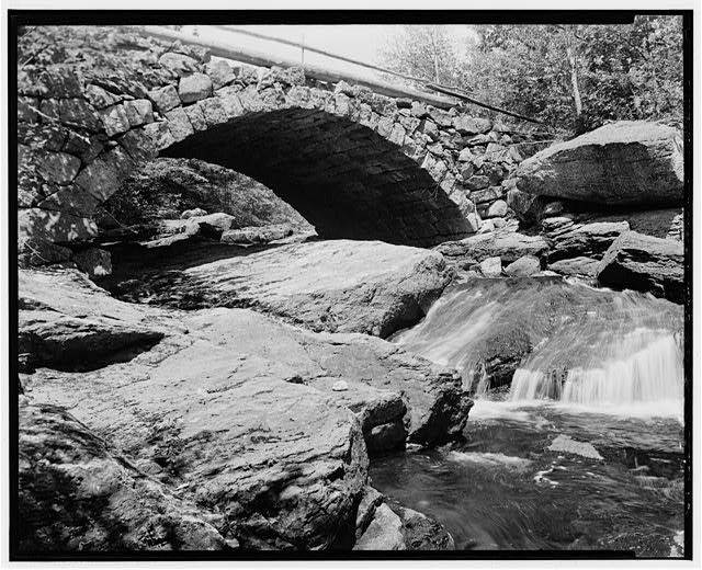 3.  Historical American Buildings Survey L. C. Durette, Photographer May 15, 1936 GLEASON FALLS BRIDGE DETAIL FROM DOWN STREAM - Gleason Falls Bridge, Spanning Beard Brook, Hillsboro, Hillsborough County, NH