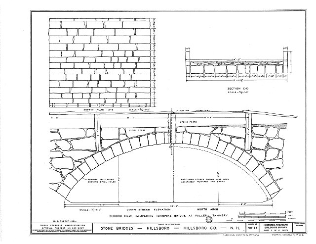 HABS NH,6-HILL.V,1A- (sheet 2 of 2) - Second New Hampshire Turnpike Bridge, Fullers Tannery, Hillsboro, Hillsborough County, NH