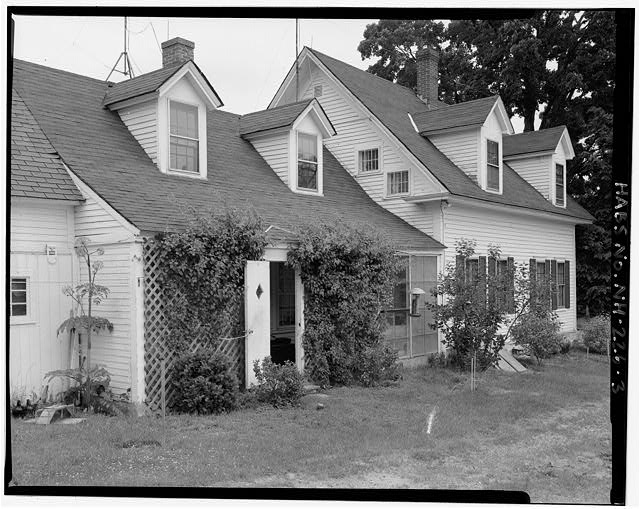 View northeast of main house, kitchen ell and portion of shed - Harvey L. White Farm, West side of Route 202, directly north of Hillsborough-Antrim town line, Hillsboro, Hillsborough County, NH