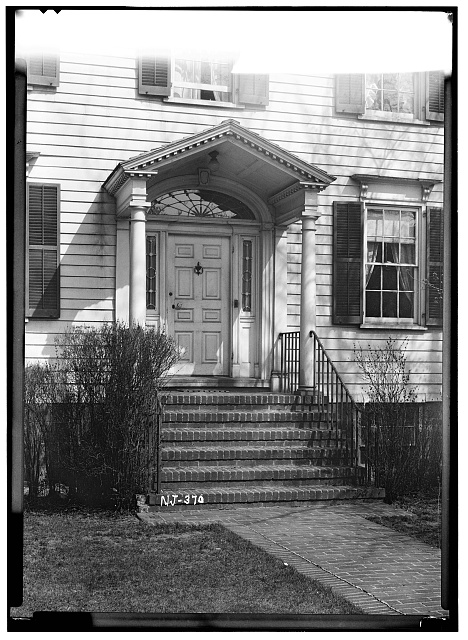 2.  Historic American Buildings Survey R. Merritt Lacey, Photographer April 15, 1937 EXTERIOR - PORCH AND DOOR DETAIL FRONT ELEVATION - First Presbyterian Church on-the-Green, The Manse, Bloomfield, Essex County, NJ