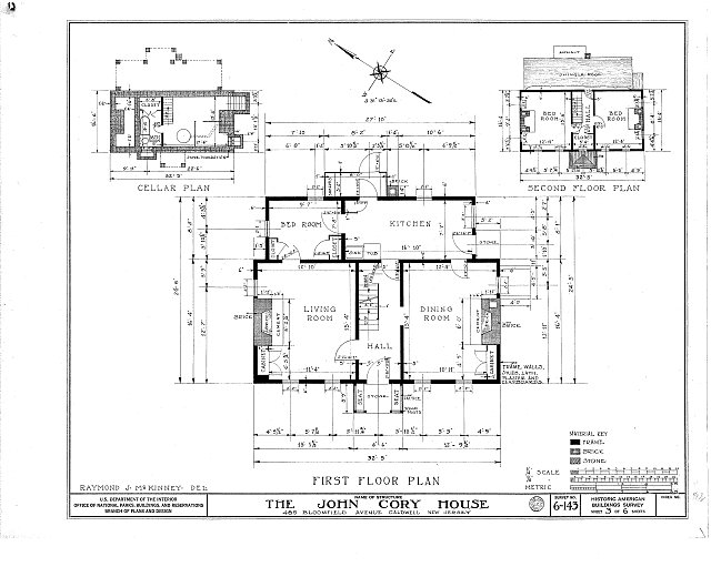 HABS NJ,7-CALD,1- (sheet 3 of 6) - John Cory House, 485 Bloomfield Avenue, Caldwell, Essex County, NJ