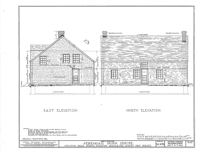 HABS NJ,12-STELN,1- (sheet 5 of 9) - Jeremiah Dunn House, Stelton Road, North Stelton, Middlesex County, NJ