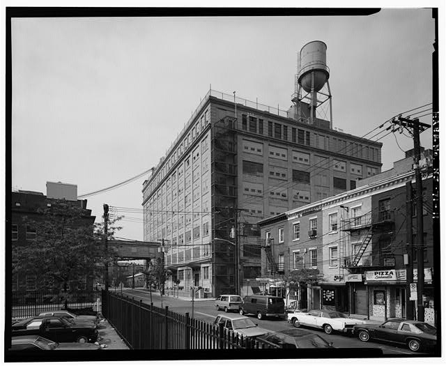 11.  G BLOCK TO SOUTHWEST; B-1 AT LEFT - Colgate & Company Jersey City Plant, Between 1931 Pierhead Line, Essex, York, & Montgomery Streets, Jersey City, Hudson County, NJ