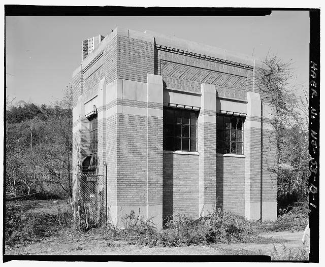 View to northwest - Ford Motor Company Edgewater Assembly Plant, Substation, 309 River Road, Edgewater, Bergen County, NJ