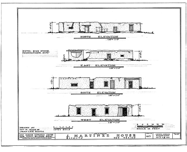 HABS NM,28-RANCHI,3- (sheet 3 of 8) - Jose Maria Martinez House, Ranchito, Taos County, NM