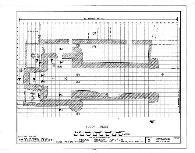 HABS NM,24-PECO,1- (sheet 3 of 14) - Pecos Church (Ruins), Pecos, San Miguel County, NM