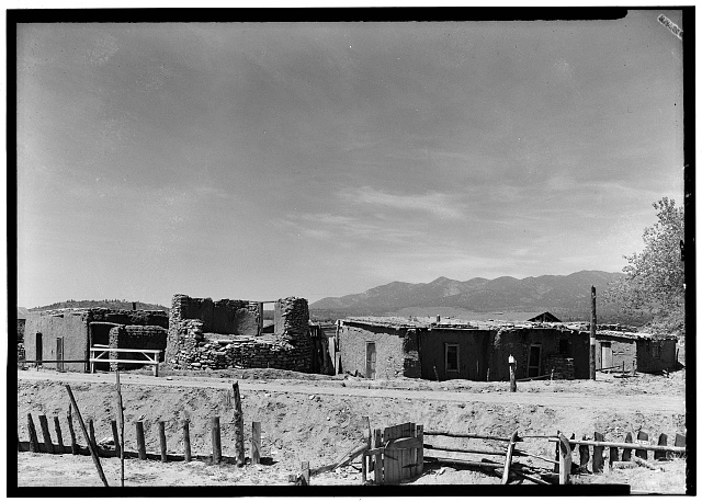 2.  Donald W. Dickensheets, Photographer. Historic American Buildings Survey. May 28th., 1940. GENERAL VIEW (WEST ELEVATION) - The Torreon, Manzano, Torrance County, NM