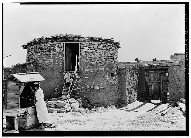 4.  Historic American Buildings Survey., Jesse Nussbaum, Photographer. Museum of New Mexico. 1916 TOWER (WEST ELEVATION). - The Torreon, Manzano, Torrance County, NM