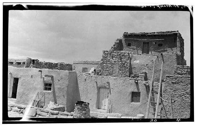 82.  Historic American Buildings Survey M. James Slack, Photographer, April 18, 1934 HOUSE IN BLOCK NO. 8 - Pueblo of Acoma, Casa Blanca vicinity, Acoma Pueblo, Cibola County, NM