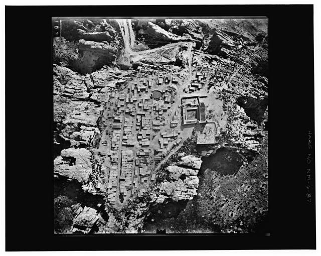 87.  MAJOR STREETS OF THE PUEBLO Copy photograph of photogrammetric plate LC-HABS-GS01-B-1973-503. - Pueblo of Acoma, Casa Blanca vicinity, Acoma Pueblo, Cibola County, NM