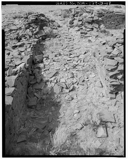 17.  Interior passageway, view from east wall towards west - Indian Creek, Casa Cielo, Indian Creek, Crownpoint, McKinley County, NM