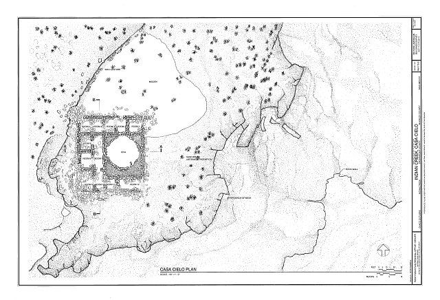 HABS NM16-CROPO.V,2B- (sheet 1 of 2) - Indian Creek, Casa Cielo, Indian Creek, Crownpoint, McKinley County, NM