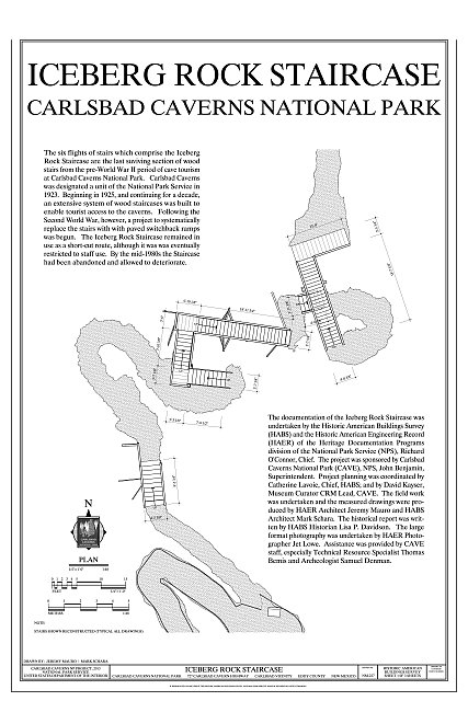 Cover Sheet and Plan - Iceberg Rock Staircase, 727 Carlsbad Cavern Highway, Carlsbad, Eddy County, NM
