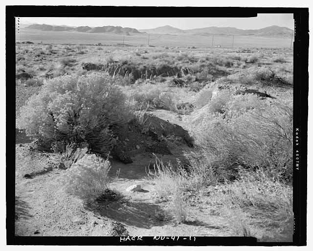 Feature 1, washed out culvert north end to south - Victory Highway, One Mile Segment West of West Wendover and South of Interstate 80, West Wendover, Elko County, NV