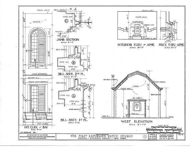 HABS NY,14-FISH,2- (sheet 6 of 11) - First Dutch Reformed Church, Main Street, Fishkill, Dutchess County, NY