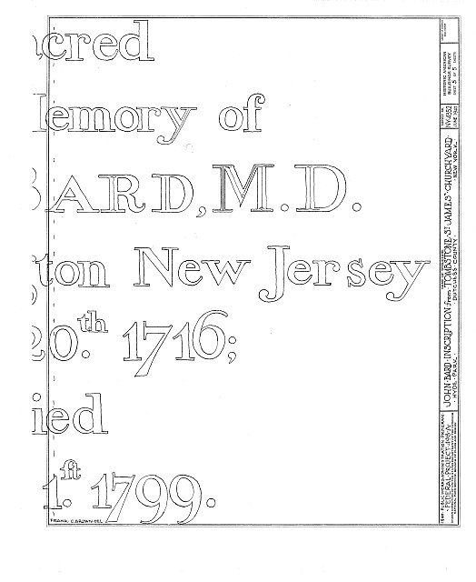 HABS NY,14-HYP,6- (sheet 5 of 5) - Tombstone of Bard Family, Saint James' Churchyard, Albany Post Road, Hyde Park, Dutchess County, NY