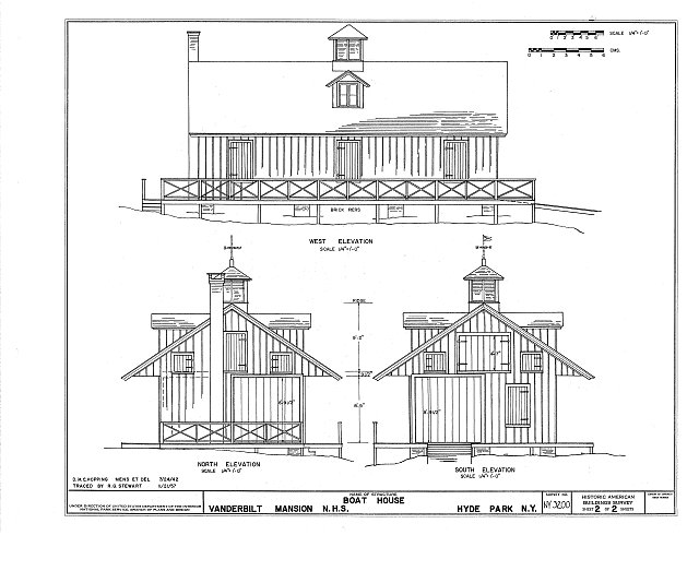 HABS NY,14-HYP,1- (sheet 2 of 2) - Vanderbilt Boathouse, Hyde Park, Dutchess County, NY
