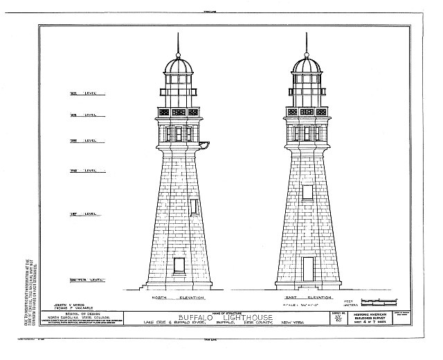 HABS NY,15-BUF,17- (sheet 4 of 7) - Buffalo Lighthouse, Buffalo Harbor, Buffalo River & Lake Erie, Buffalo, Erie County, NY