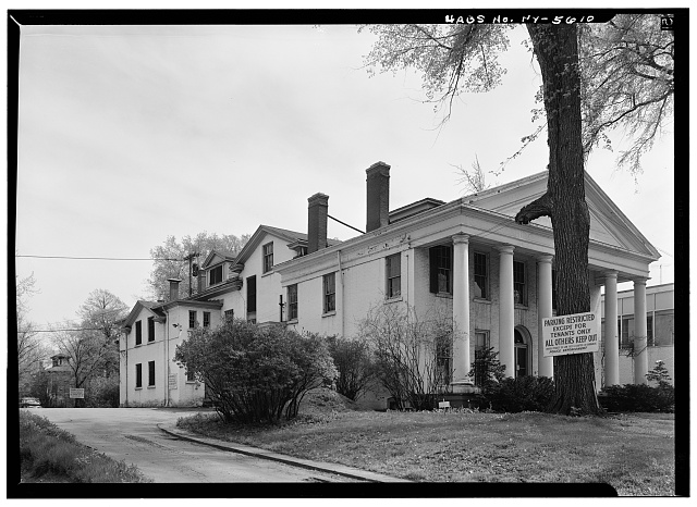 1.  Historic American Buildings Survey, May 1965, NORTH (SIDE) ELEVATION FROM NORTHWEST. - Ansley Wilcox House, 641 Delaware Avenue, Buffalo, Erie County, NY
