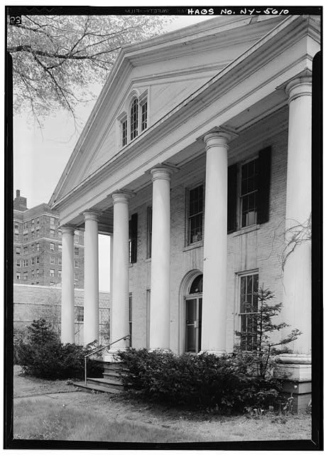 3.  Historic American Buildings Survey, May 1965, WEST (FRONT) ELEVATION FROM SOUTHWEST. - Ansley Wilcox House, 641 Delaware Avenue, Buffalo, Erie County, NY