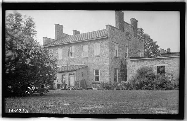 1.  Historic American Buildings Survey, Walter H. Cassebeer, Photographer July 1936, South East Elevation-Rear. - James R. Clark House, Main Street, Caledonia, Livingston County, NY