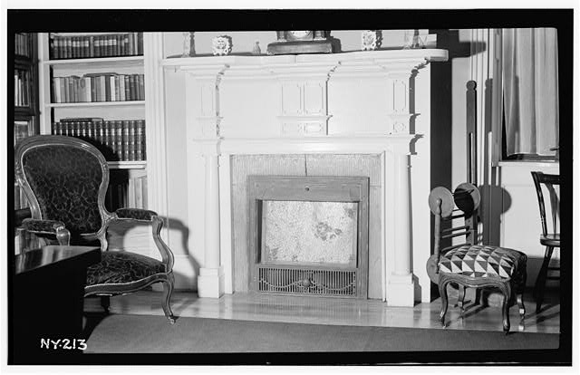 3.  Historic American Buildings Survey, Walter H. Cassebeer, Photographer July 1936, Mantel in North West Room (1st fl.). - James R. Clark House, Main Street, Caledonia, Livingston County, NY