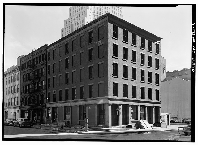 1.  Historic American Buildings Survey, Cervin Robinson, Photographer March 1960, NORTHWEST AND NORTHEAST ELEVATIONS. - Carle Building, 151-153 Water Street, 134-136 Maiden Lane, New York, New York County, NY