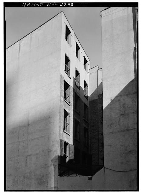 2.  Historic American Buildings Survey, Cervin Robinson, Photographer March 1960, SOUTHWEST AND SOUTHEAST ELEVATIONS. - Carle Building, 151-153 Water Street, 134-136 Maiden Lane, New York, New York County, NY