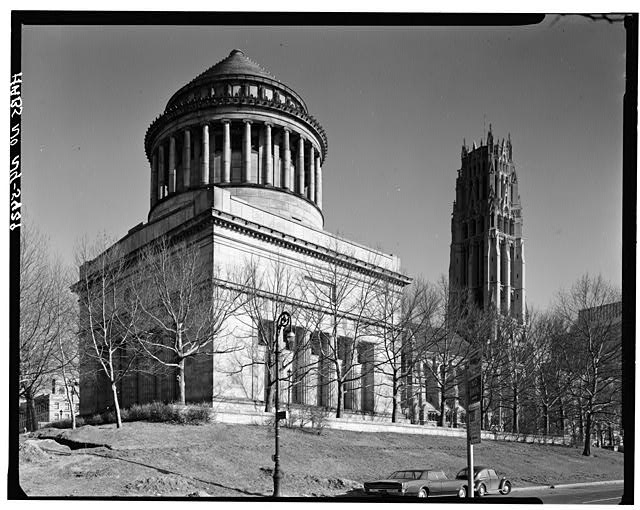 4.  Historic American Buildings Survey, Cervin Robinson, Photographer April 11, 1964, VIEW FROM NORTHWEST. - Grant's Monument, Riverside Drive & West 122nd Street, New York, New York County, NY