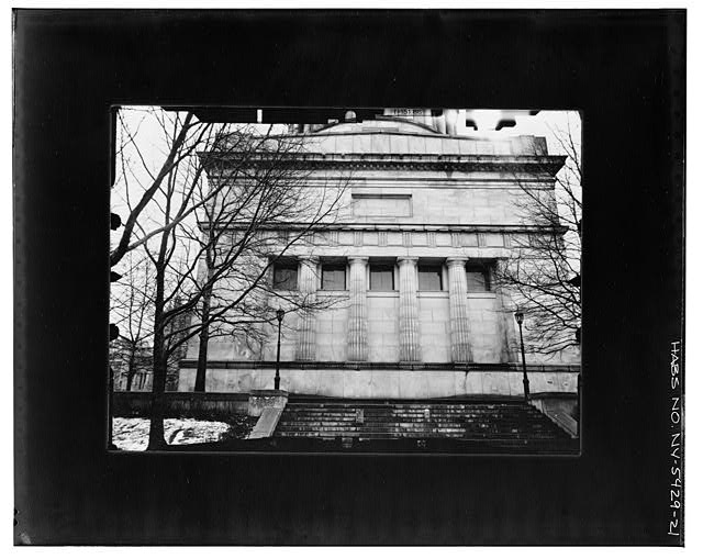 23.  LOWER FACADE, NORTH (REAR) ELEVATION--CLOSEUP Copy photograph of photogrammetric plate LC-HABS-GS05-T-2564-107L. - Grant's Monument, Riverside Drive & West 122nd Street, New York, New York County, NY