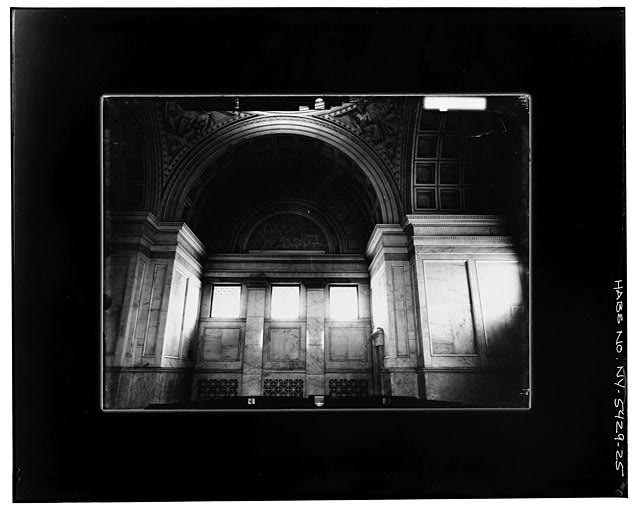 25.  INTERIOR, LOOKING WEST AT MAIN FLOOR LEVEL-- INCLINED Copy photograph of photogrammetric plate LC-HABS-GS05-T-2564-109R. - Grant's Monument, Riverside Drive & West 122nd Street, New York, New York County, NY