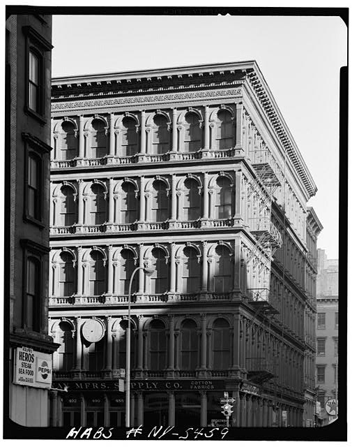 1.  Historic American Buildings Survey, Cervin Robinson, Photographer August 1970, EXTERIOR FROM SOUTHWEST. - E. V. Haughwout & Company Building, 488-492 Broadway, New York, New York County, NY