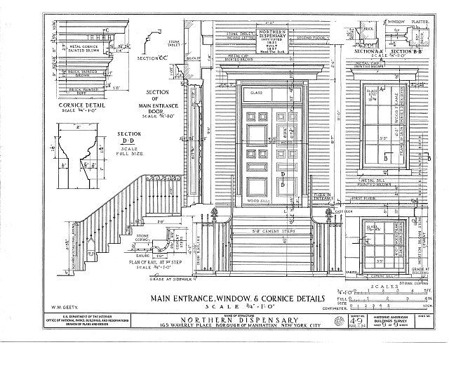 HABS NY,31-NEYO,13- (sheet 9 of 9) - Northern Dispensary, 165 Waverly Place, New York, New York County, NY