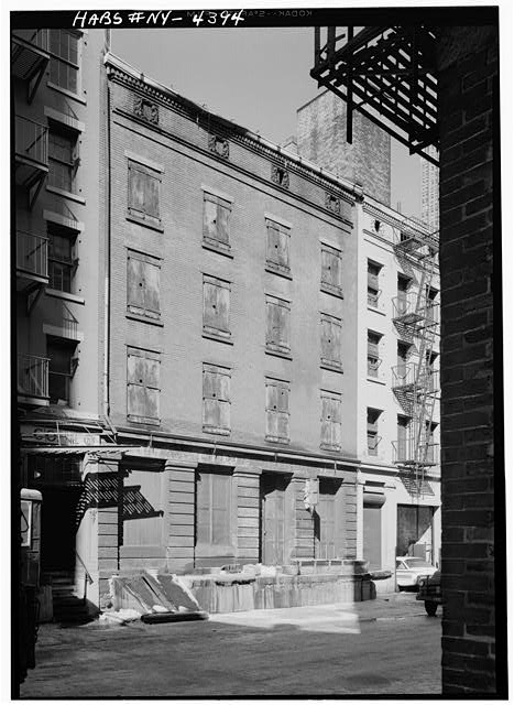 1.  Historic American Buildings Survey, Cervin Robinson, Photographer February 1960, SOUTHEAST (FRONT) ELEVATION. - Phoenix-Shaw Warehouse, 68-70 Front Street, New York, New York County, NY