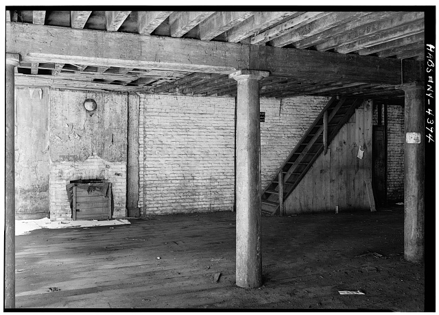3.  Historic American Buildings Survey, Cervin Robinson, Photographer February 1961, SOUTHWEST WALL OF SECOND FLOOR. - Phoenix-Shaw Warehouse, 68-70 Front Street, New York, New York County, NY
