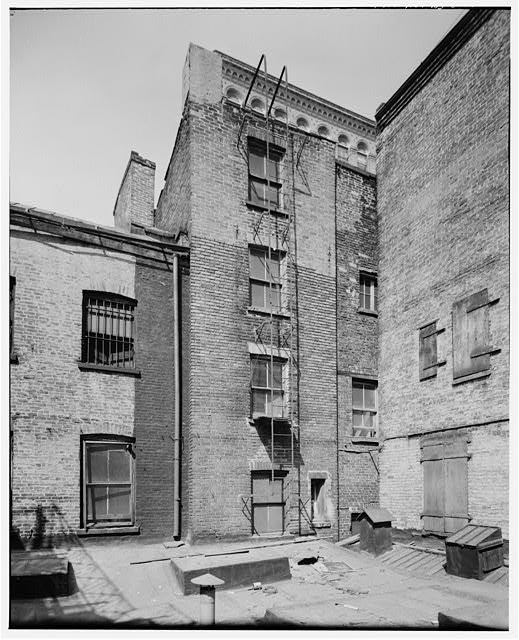 2.  REAR ELEVATION, DETAIL OF END TWO BAYS - David Walker House & Office, 45 Whitehall Street, New York, New York County, NY
